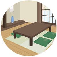 Traditional Japanese furnishings