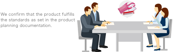 We confirm that the product fulfills the standards as set in the product planning documentation.